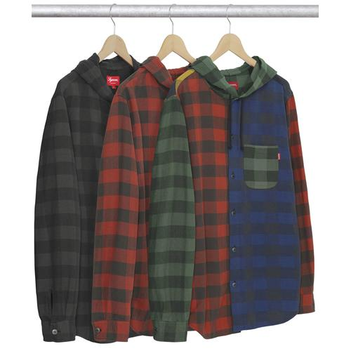 Hooded Buffalo Plaid Flannel Shirt