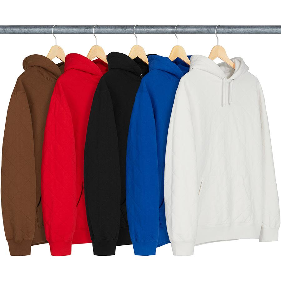 Supreme Quilted Hooded Sweatshirt