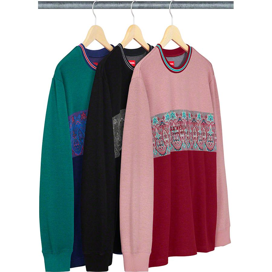 Supreme Paisley Stripe L/S Top