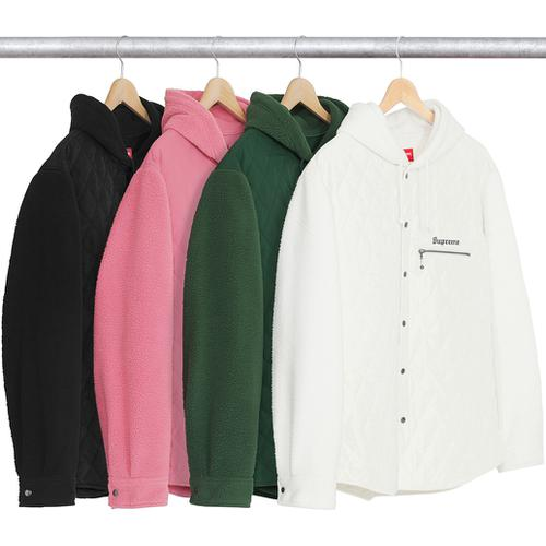 Hooded Fleece Nylon Shirt