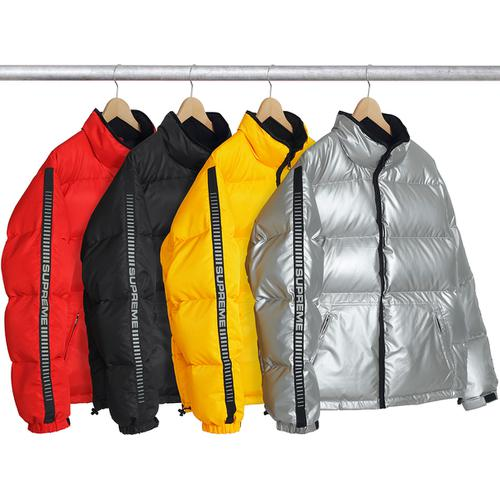Reflective Sleeve Logo Puffy Jacket