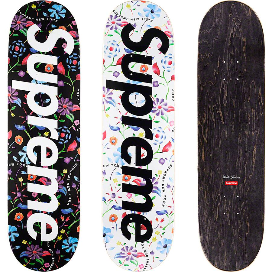 Supreme Airbrushed Floral Skateboard