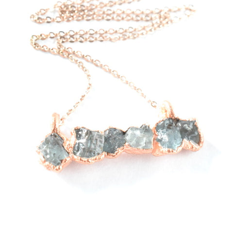 Aquamarine Bar Necklace
