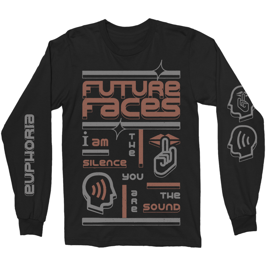 "FUTURE FACES ""Silence"" Black Longsleeve"