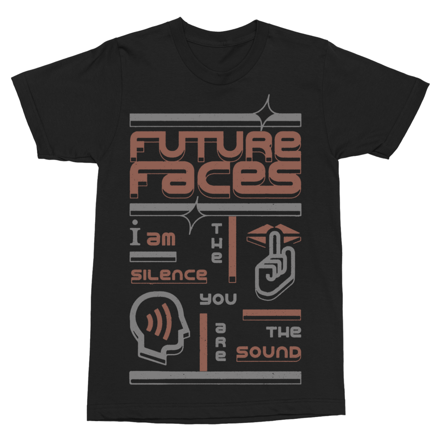 "FUTURE FACES ""Silence"" Black T-Shirt"