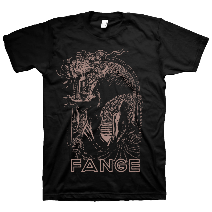 "FANGE ""Flamme"" Black T-Shirt"