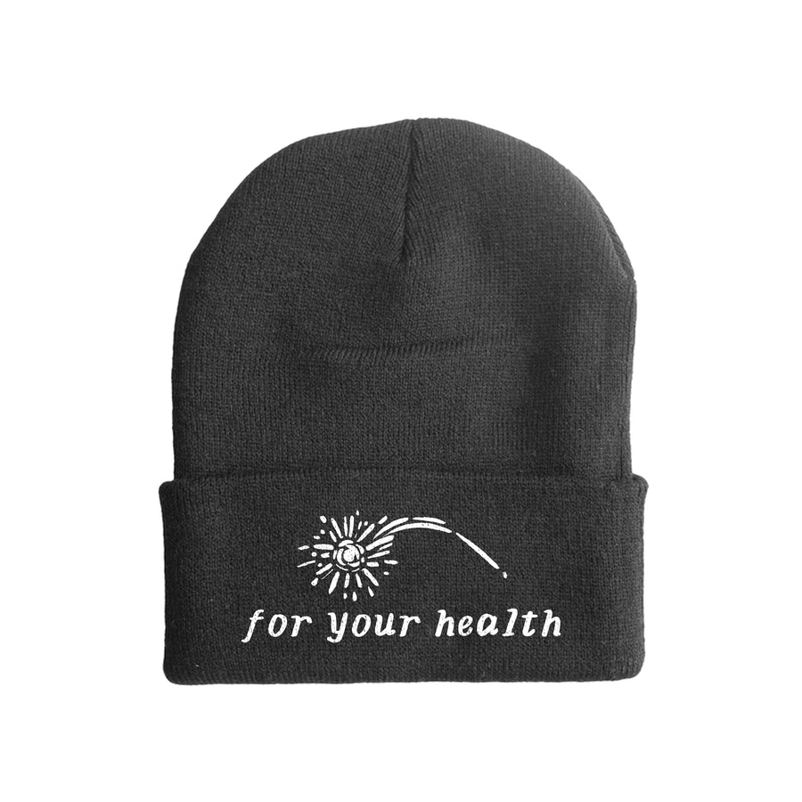 "FOR YOUR HEALTH ""Logo"" Black Beanie"