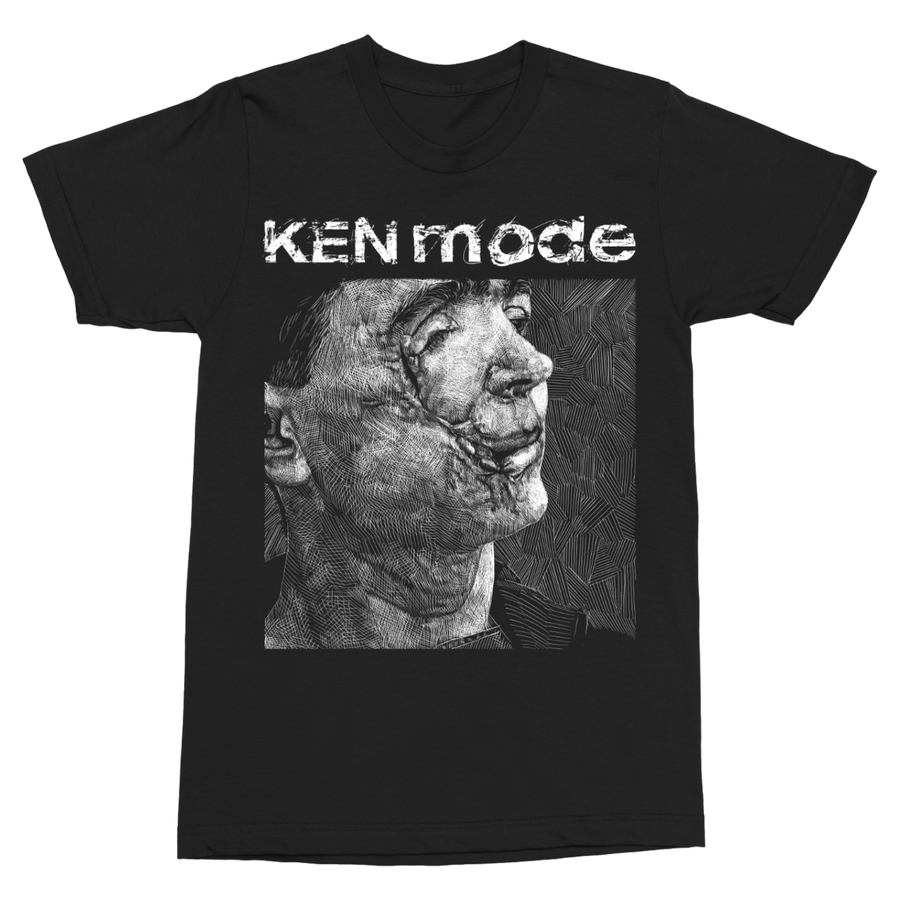 "KEN MODE ""Cut-Face"" Black T-Shirt"