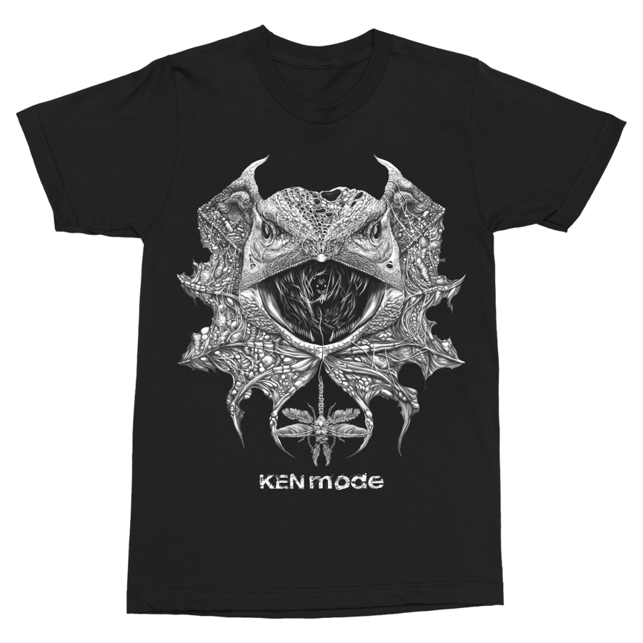 "KEN MODE ""Lizard"" Black T-Shirt"