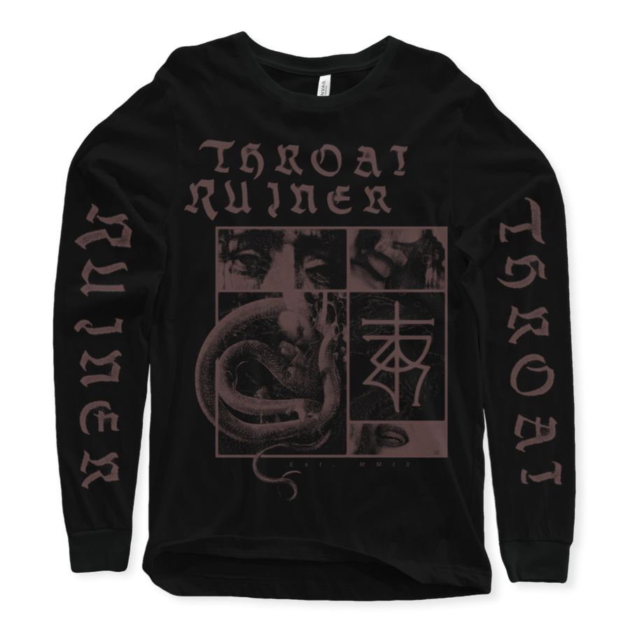 "THROATRUINER ""Snake"" Black Longsleeve"