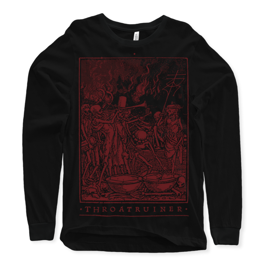 "THROATRUINER ""Totentanz"" Black Longsleeve"