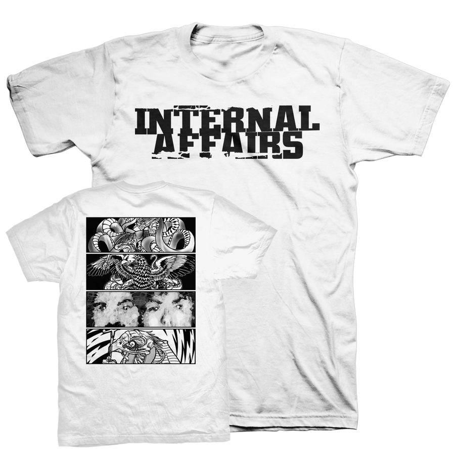 "INTERNAL AFFAIRS ""Discography"" White T-Shirt"