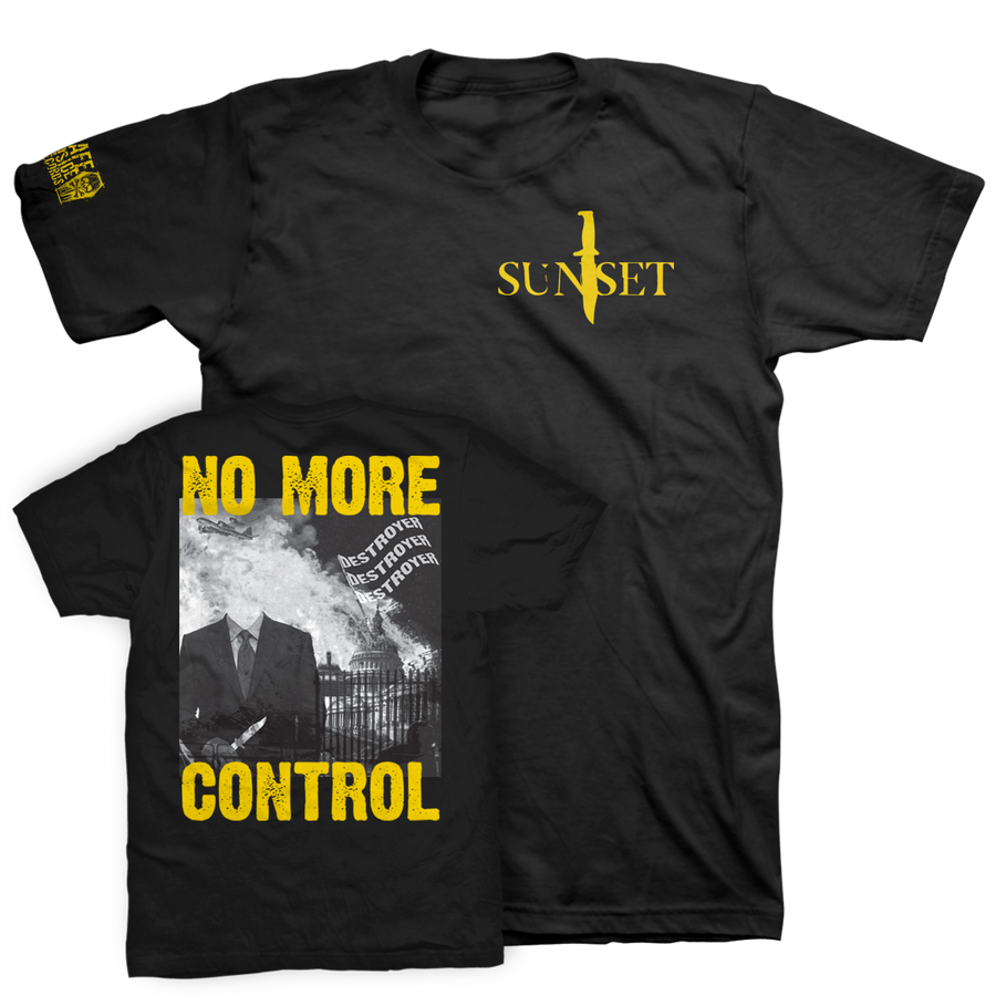 "SUNSET ""No More Control"" Black T-Shirt"