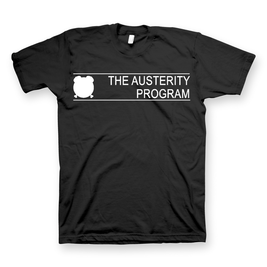 "THE AUSTERITY PROGRAM ""Standard"" Black T-Shirt"