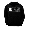 "THE AUSTERITY PROGRAM ""Standard"" Black Zip-Up Hoodie"