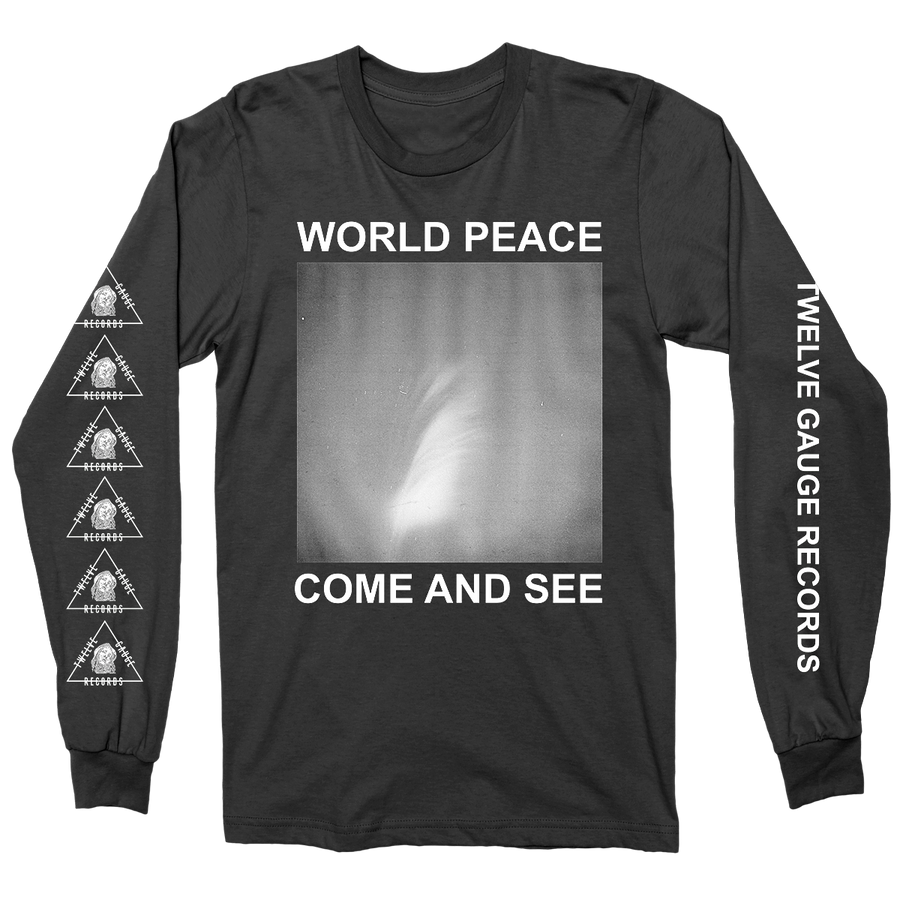 "WORLD PEACE ""Come And See"" Black Longsleeve"