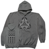 "THOMAS HOOPER ""Ashes And Diamonds"" Gray Hooded Sweatshirt"