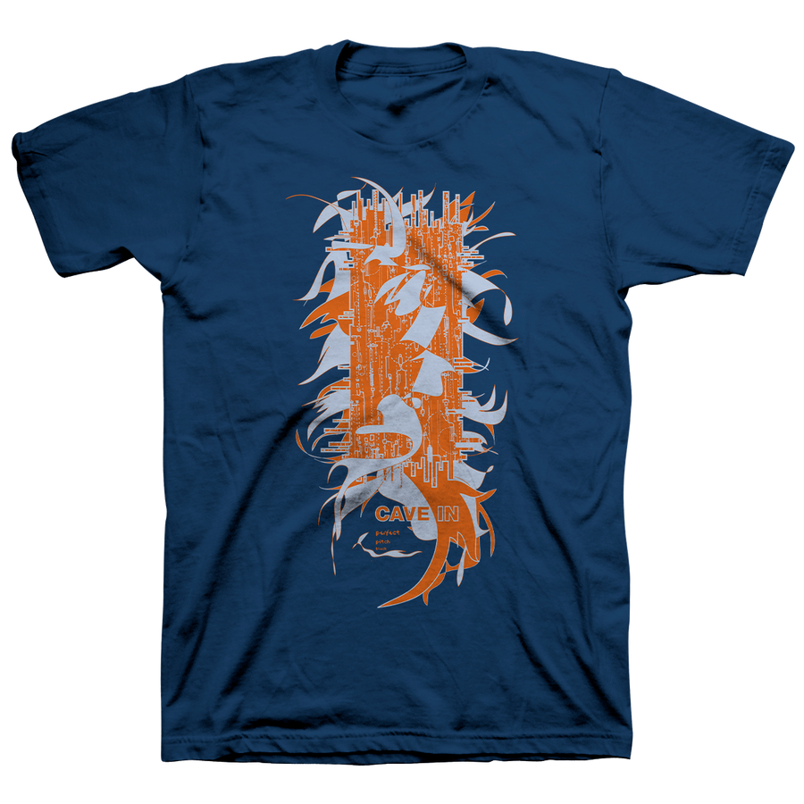 "CAVE IN ""Perfect Pitch Black: Pillar"" Navy Blue T-Shirt"