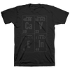 "CAVE IN ""Elements (Stacked) Grey"" Black T-Shirt"