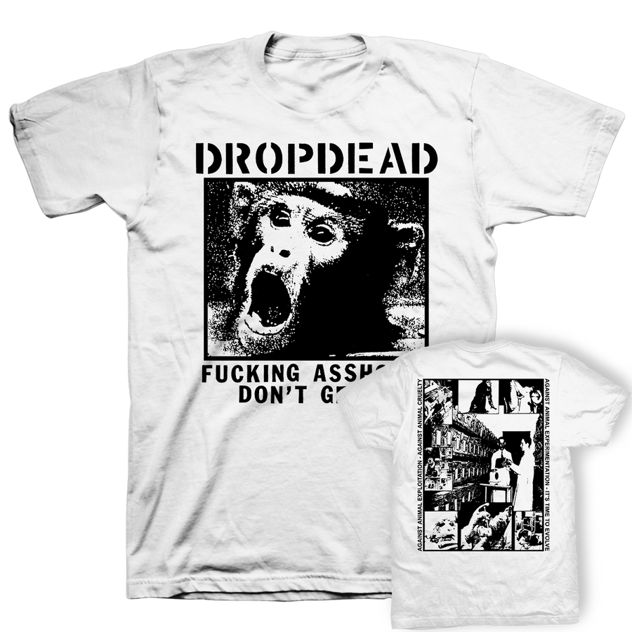 "DROPDEAD ""Assholes Don't Get It"" White T-Shirt"