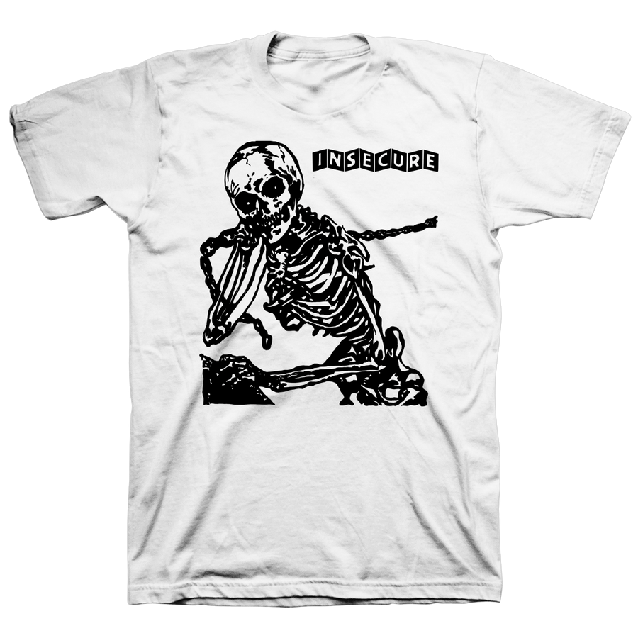 "INSECURE ""Skeleton"" White T-Shirt"
