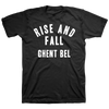 "RISE AND FALL ""Ghent Bel"" Black T-Shirt"
