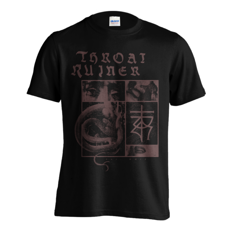 "THROATRUINER ""Snake"" Black T-Shirt"