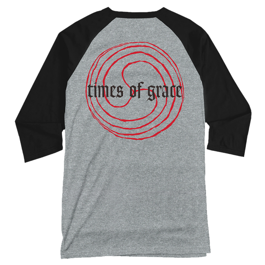 "NEUROSIS ""Times Of Grace"" Heather Grey Baseball Tee"