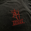 "THROATRUINER ""Logo"" Embroidered Black T-Shirt"