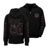 "THROATRUINER ""Snake"" Zip-Up Hoodie"
