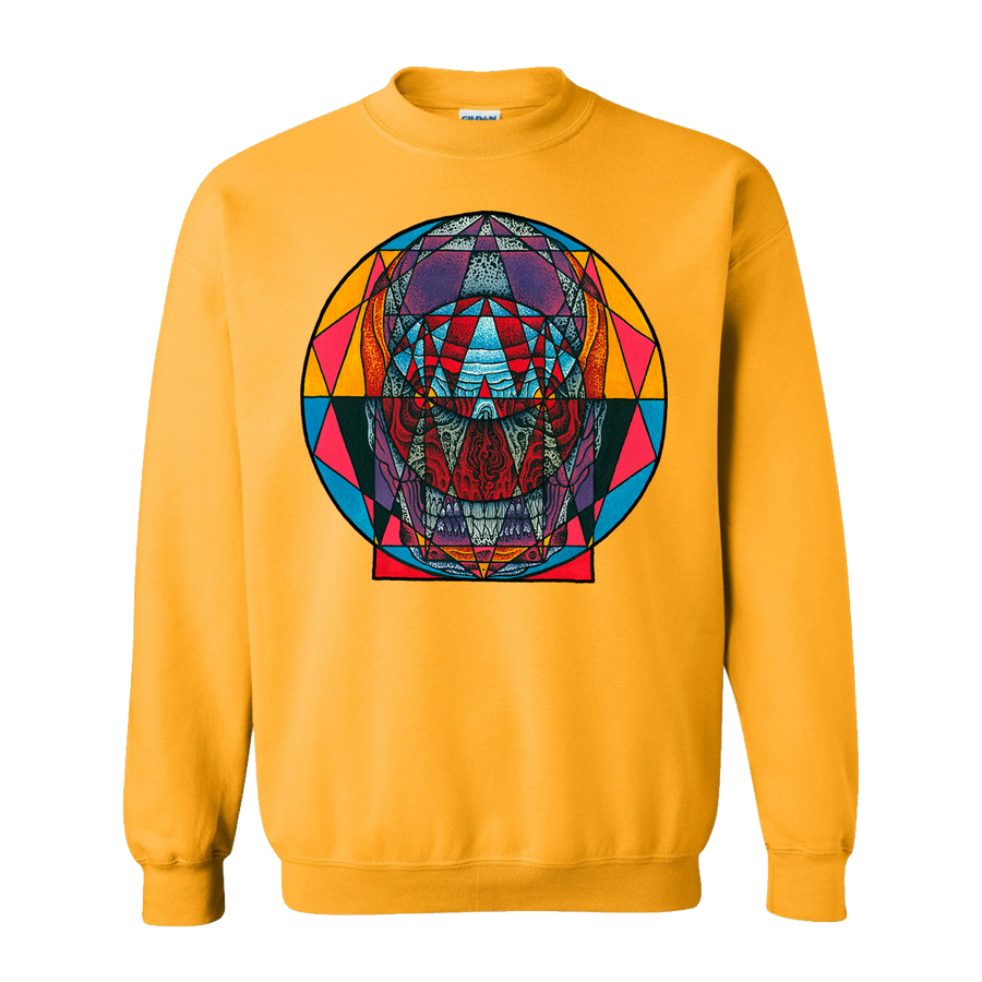 "THOMAS HOOPER ""Angular Doorway"" Gold Crew Neck Sweatshirt"