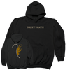 "GREET DEATH ""Axe"" Black Hooded Sweatshirt"
