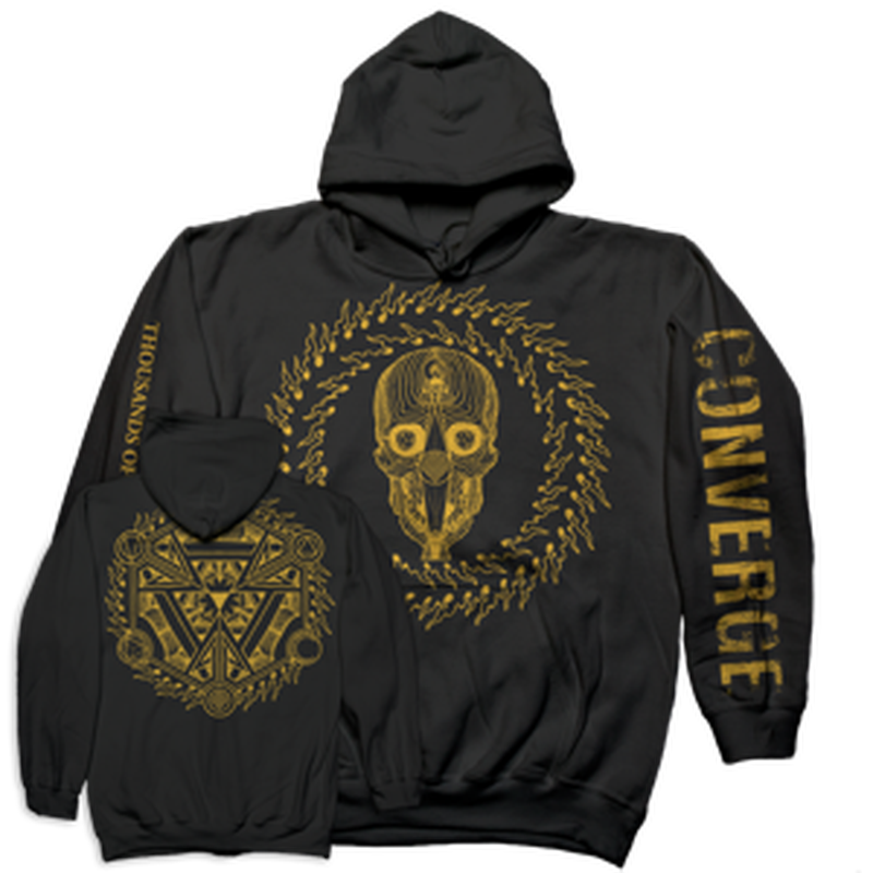 "CONVERGE ""Thousand Of Miles Between Us"" Hooded Sweatshirt-Deathwish Inc-Deathwish Inc Europe"
