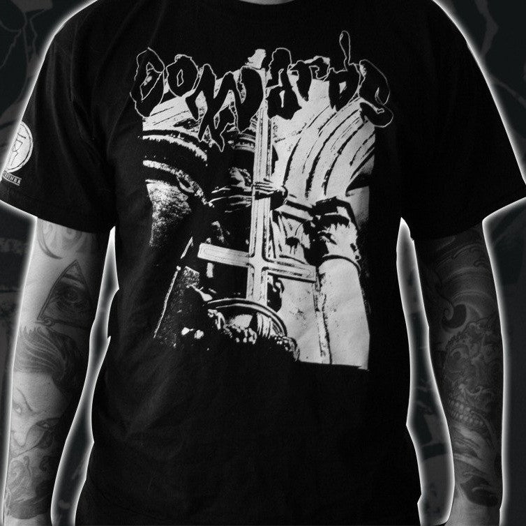 "COWARDS ""St Pierre"" T-Shirt-Throatruiner Records-Deathwish Inc Europe"