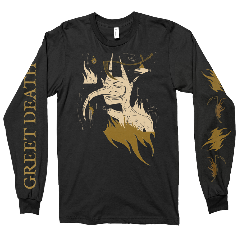 "GREET DEATH ""Devil"" Black Longsleeve"