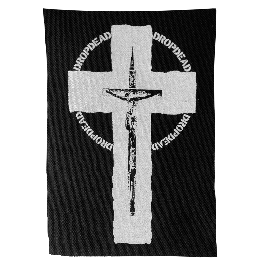 "DROPDEAD ""Cross"" Silkscreened Patch"