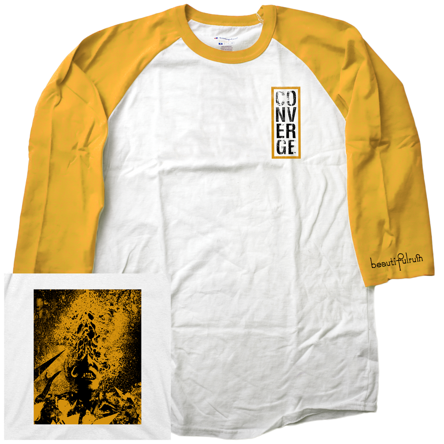 "CONVERGE ""Beautiful Ruin"" Yellow Baseball Tee"