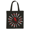 "FOR YOUR HEALTH ""Heart"" Black Tote Bag"
