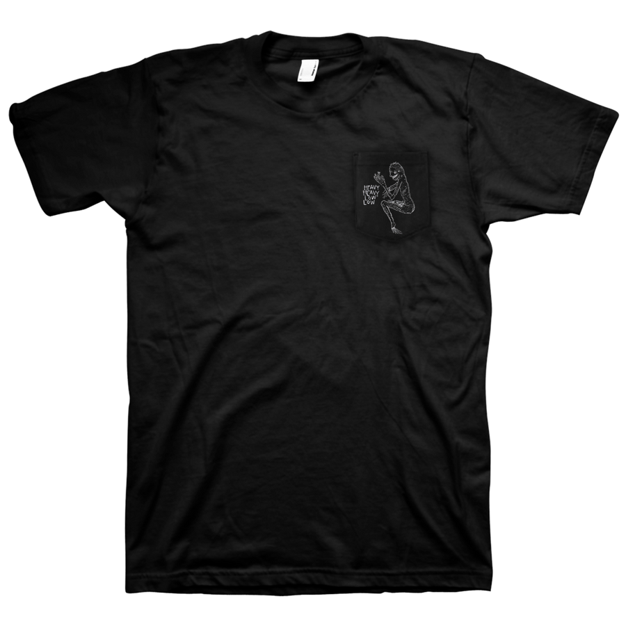 "HEAVY HEAVY LOW LOW ""Pocket"" Black T-Shirt"