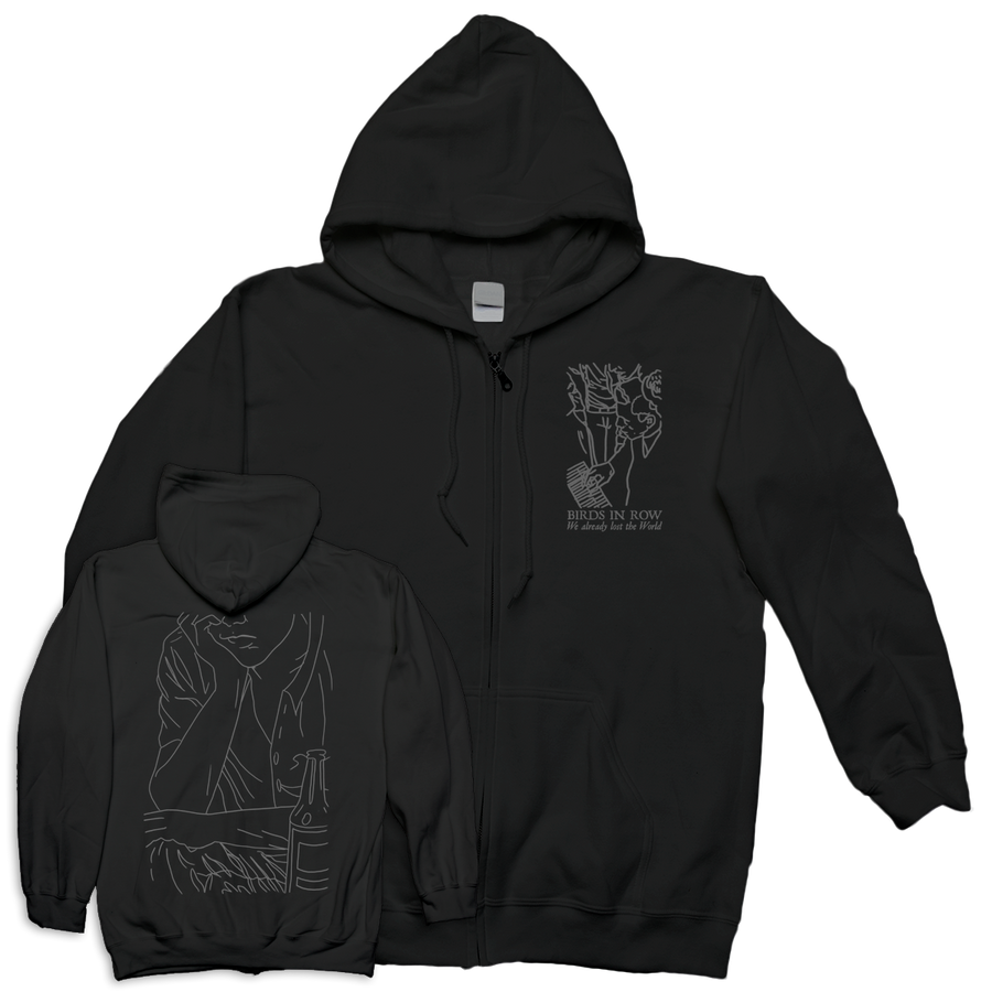 "BIRDS IN ROW ""We Already Lost The World"" Zip-Up Hoodie"