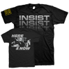"INSIST ""Here And Now - Black"" T-Shirt-React Records-Deathwish Inc Europe"