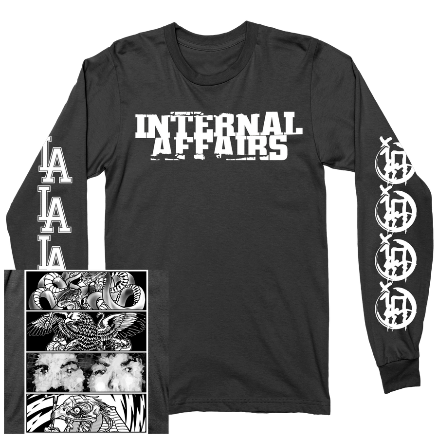 "INTERNAL AFFAIRS ""Discography"" Black Longsleeve"