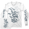"WEAR YOUR WOUNDS ""Rust On The Gates Of Heaven"" White Longsleeve"