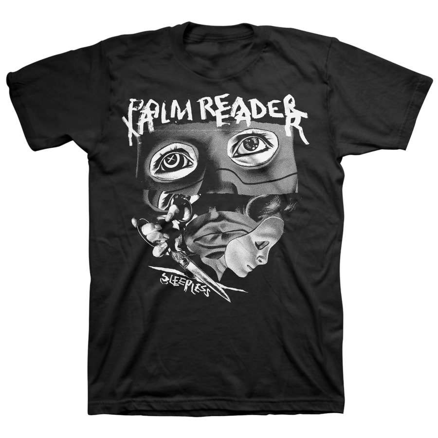 "PALM READER ""Sleepless"" Black T-Shirt"