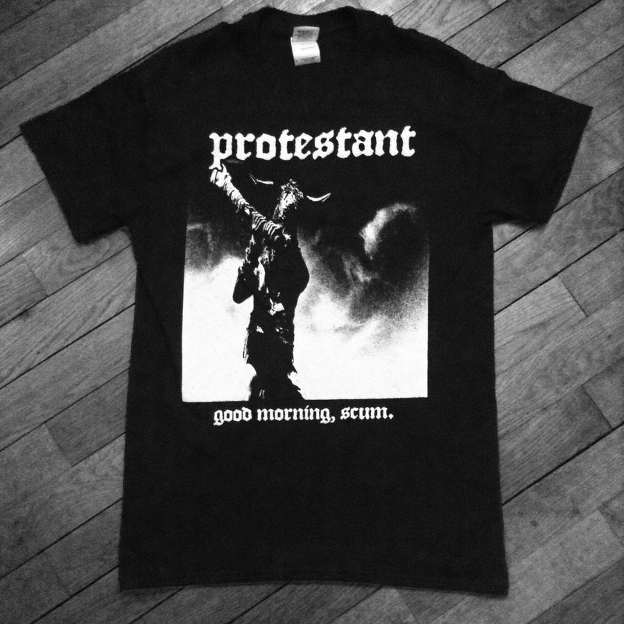 "PROTESTANT ""Time Bandits"" T-Shirt-Throatruiner Records-Deathwish Inc Europe"