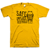 "SAFE INSIDE ""Logo"" Gold T-Shirt"