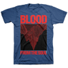 "BLOOD FROM THE SOUL ""Hellscape"" Blue T-Shirt"