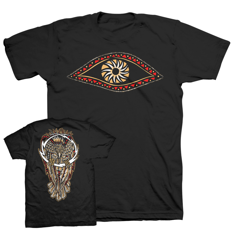 "DENNIS MCNETT ""Thunder Eagle"" Black T-Shirt"