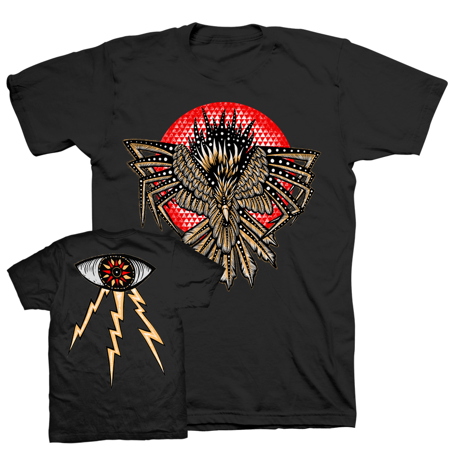 "DENNIS MCNETT ""Valley Crow"" Black T-Shirt"