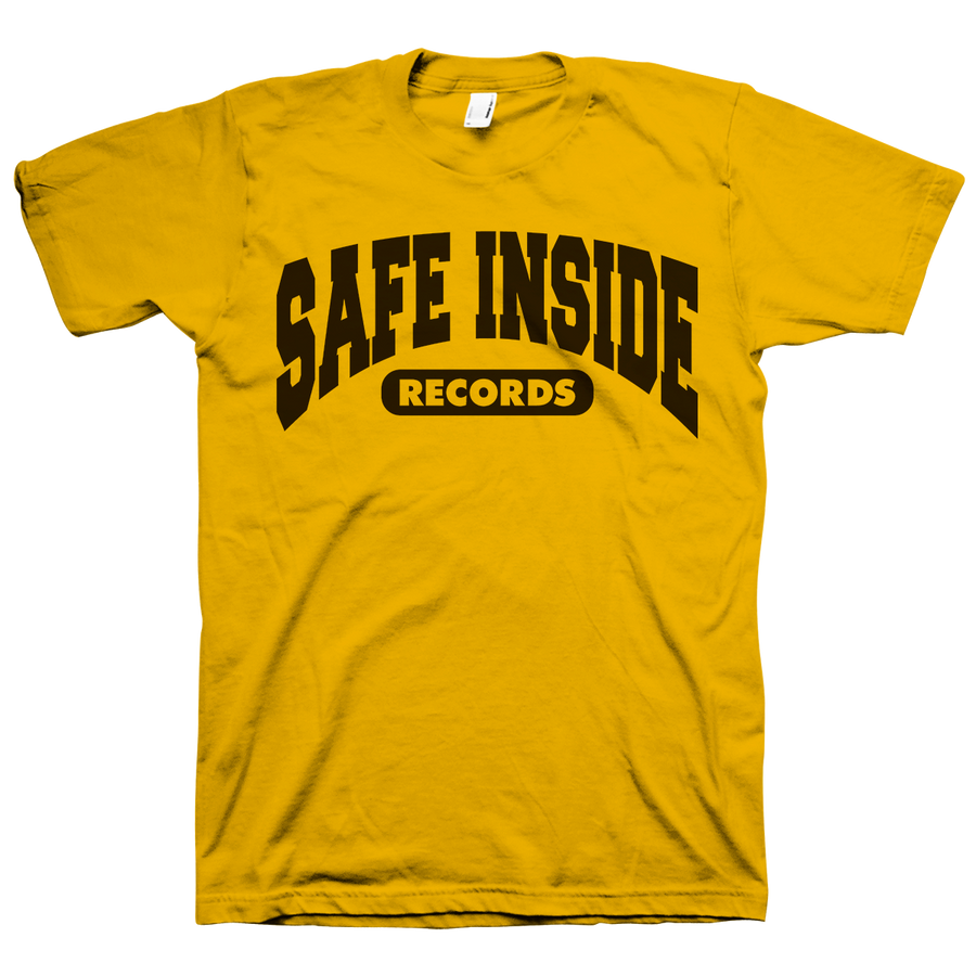 "SAFE INSIDE ""2020 Logo"" Gold T-Shirt"